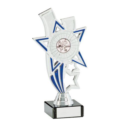 Apollo Silver and Blue Multi-Sport Trophy 185mm