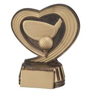 Slipstream Golf Trophy Antique Bronze and Gold 120mm