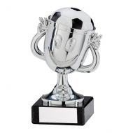 Big Fun Football Trophy Award Plastic Silver Silver 120mm