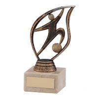 Fury Football Trophy Award Bronze and Gold 135mm