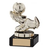 Agility Boot and Ball Football Trophy Award Gold 95mm