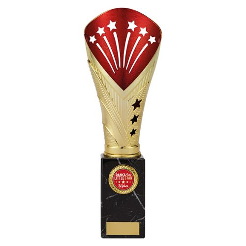 All Stars Legend Rapid Trophy Award Gold and Red 285mm : New 2019