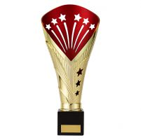 All Stars Premium Rapid Trophy Award Gold and Red 280mm : New 2019