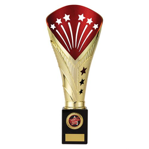 All Stars Premium Rapid Trophy Award Gold and Red 305mm : New 2019