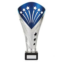 All Stars Premium Rapid Trophy Award Silver and Blue 260mm : New 2019