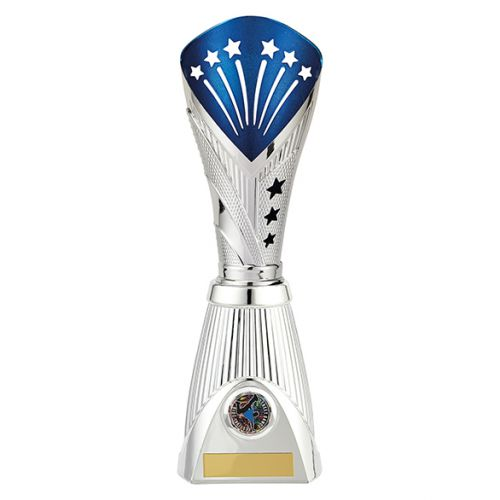All Stars Deluxe Rapid Trophy Award Silver and Blue 315mm : New 2019
