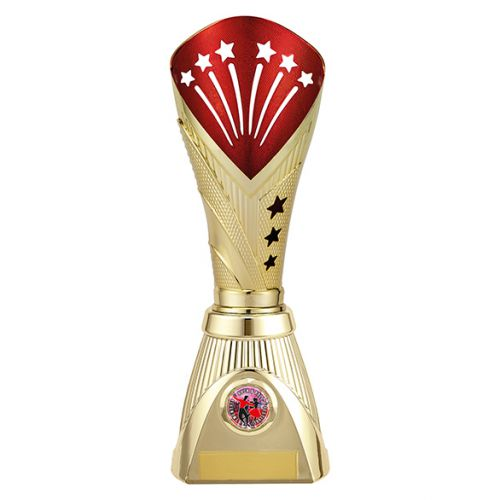 All Stars Deluxe Rapid Trophy Award Gold and Red 285mm : New 2019