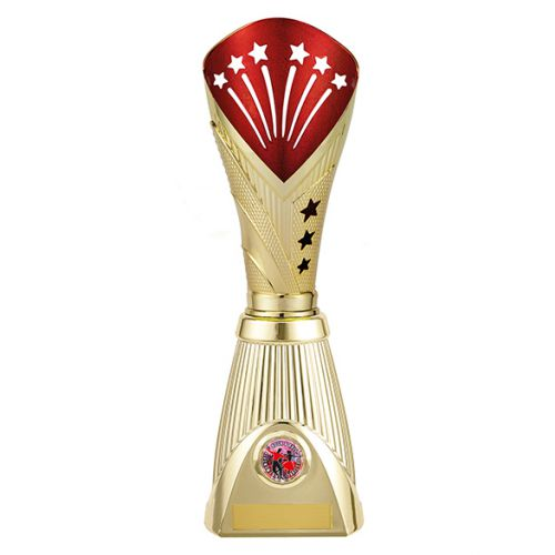 All Stars Deluxe Rapid Trophy Award Gold and Red 315mm : New 2019
