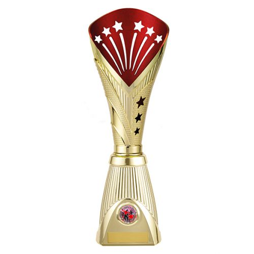 All Stars Deluxe Rapid Trophy Award Gold and Red 360mm : New 2019