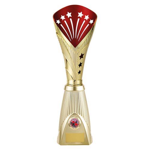 All Stars Deluxe Rapid Trophy Award Gold and Red 385mm : New 2019