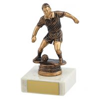 Dominion Football Trophy Award Antique Bronze and Gold 115mm : New 2019