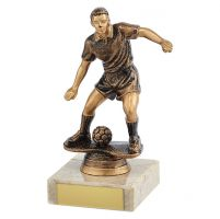 Dominion Football Trophy Award Antique Bronze and Gold 140mm : New 2019