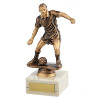 Dominion Football Trophy Award Antique Bronze and Gold 170mm : New 2019