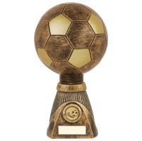 Planet Football Deluxe Rapid 2 Trophy Award Antique Bronze and Gold 255mm : New 2019