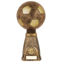 Planet Football Deluxe Rapid 2 Trophy Award Antique Bronze and Gold 285mm : New 2019