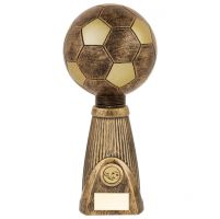 Planet Football Deluxe Rapid 2 Trophy Award Antique Bronze and Gold 315mm : New 2019