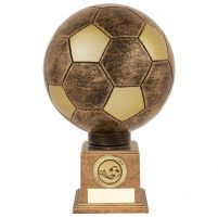 Planet Football Legend Rapid 2 Trophy Award Antique Bronze and Gold 225mm : New 2019