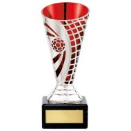 Defender Football Trophy Award Presentation Cup Silver and Red 150mm : New 2020