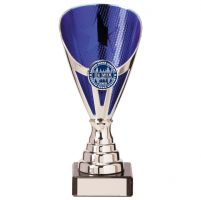 Rising Stars Premium Plastic Trophy Award Silver and Blue 170mm : New 2020