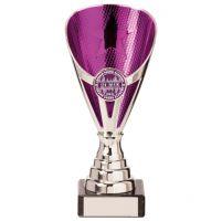 Rising Stars Premium Plastic Trophy Award Silver and Purple 170mm : New 2020