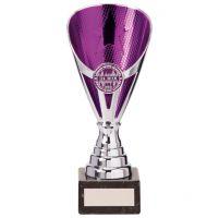 Rising Stars Premium Plastic Trophy Award Silver and Purple 185mm : New 2020