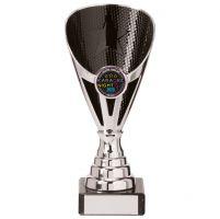 Rising Stars Premium Plastic Trophy Award Silver and Black 170mm : New 2020