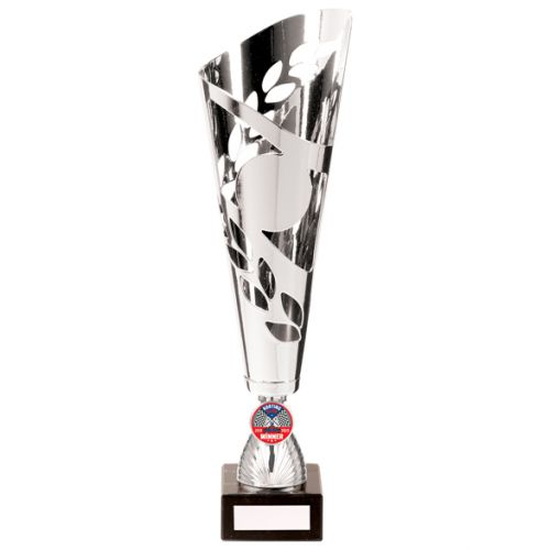 Zues Lazer Cut Metal Presentation Cup Silver 340mm : New 2020